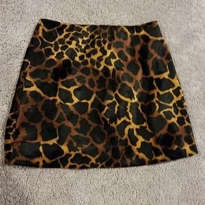 A Byer Faux Fur Animal Print Giraffe Mini Skirt 5